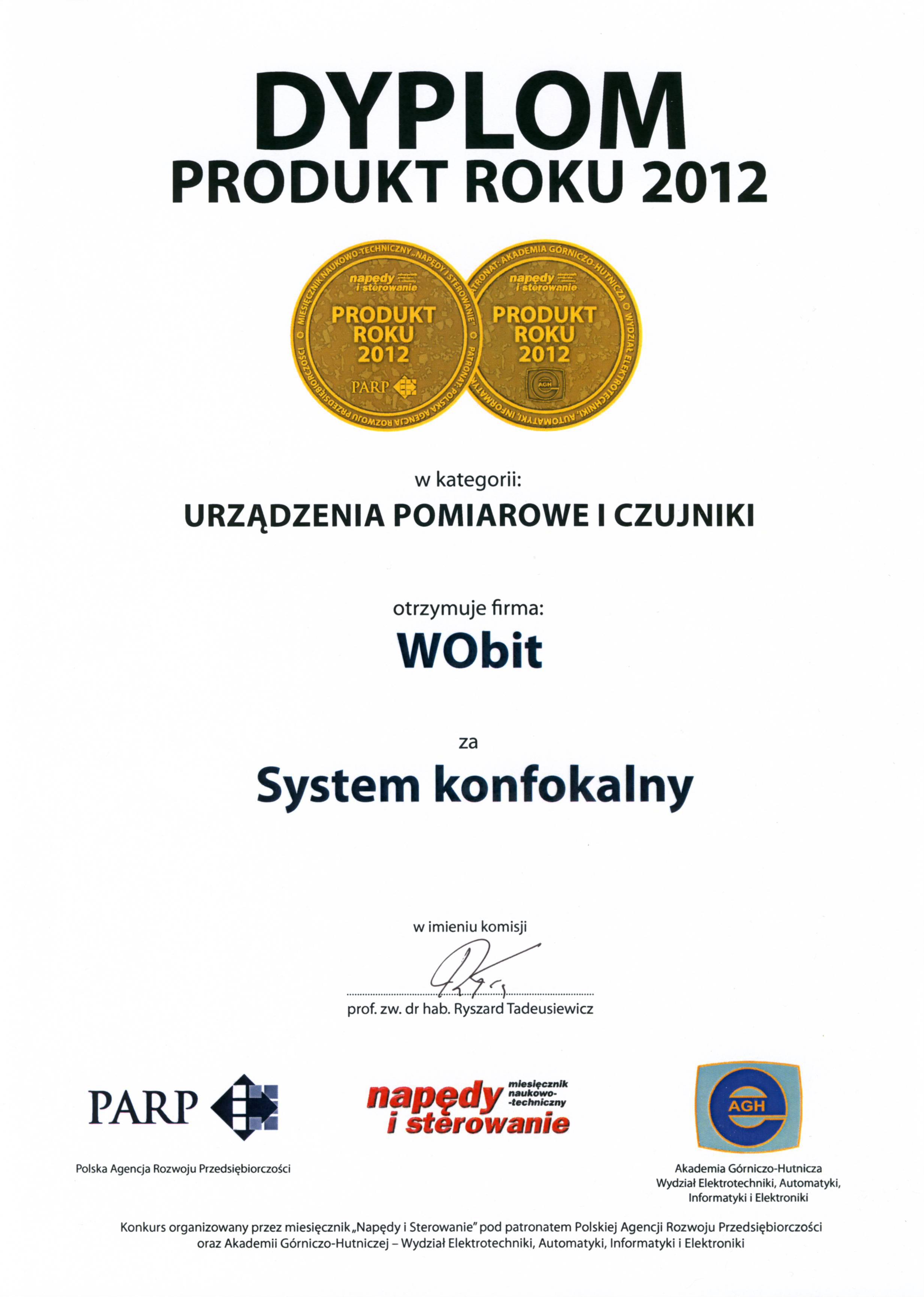 Produkt Roku 2012 - System konfokalny optoNCDT24xx