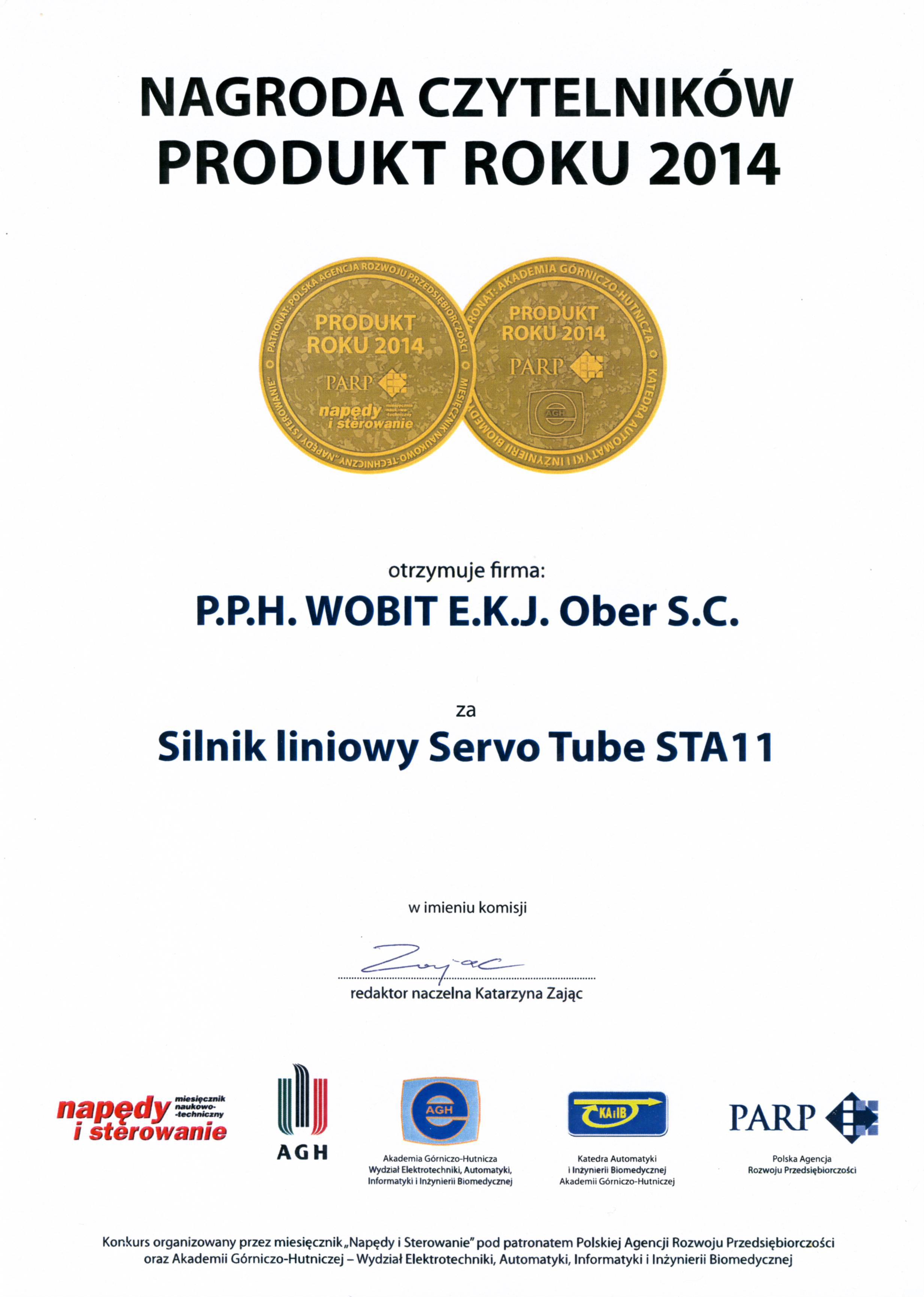 Produkt Roku 2014 - nagroda czytelników - ServoTube STA11