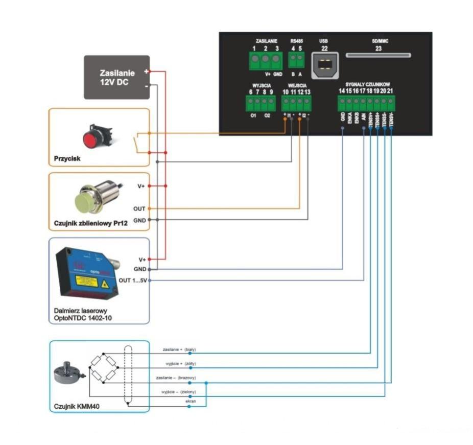 MG-TAE1 - schemat połączeń