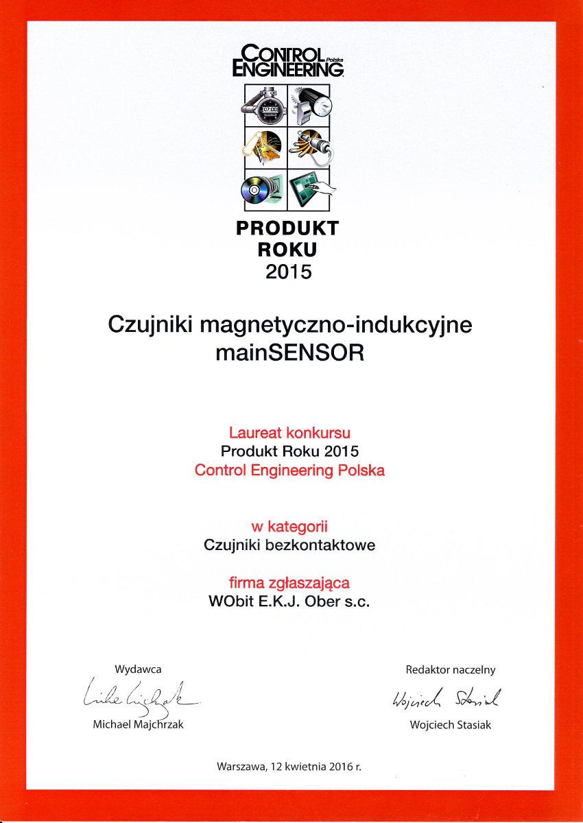Produkt Roku 2015 - Czujniki magentyczno-indukcyjne mainSENSOR