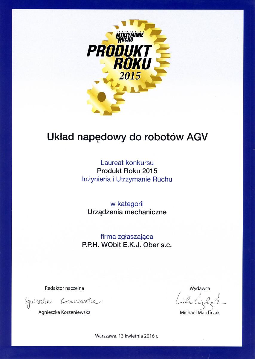 Produkt Roku 2015 - Układ napędowy do robotów AGV