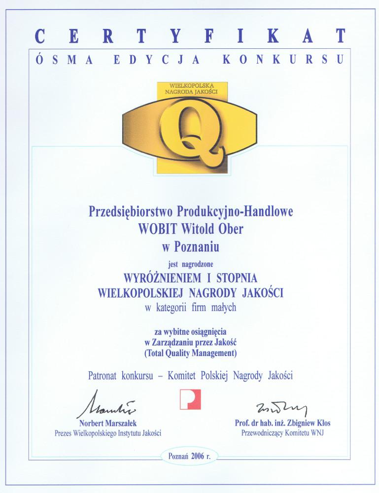Wielkopolska Nagroda Jakości 2006