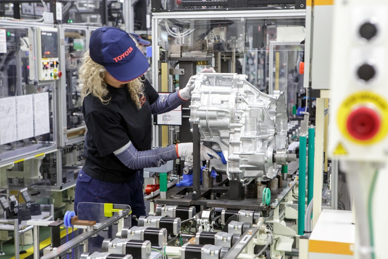 production of Toyota hybrid transmissions