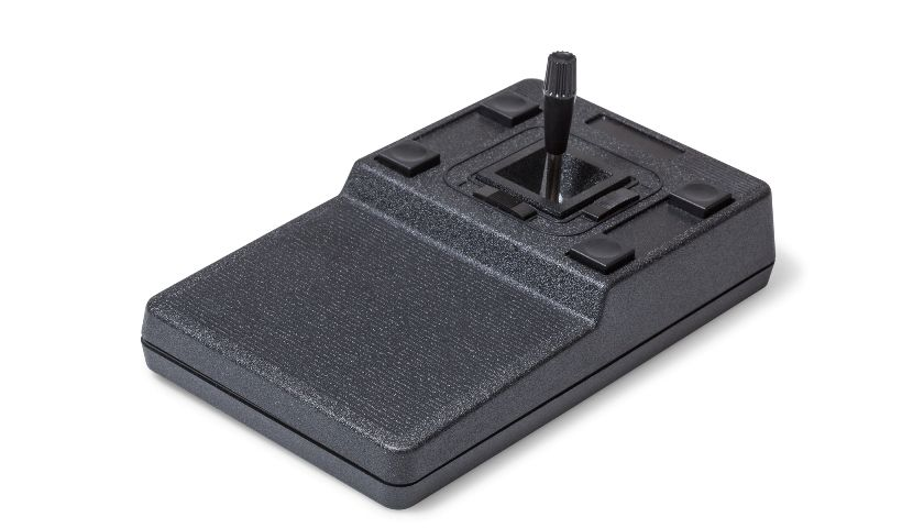 Desktop joystick with adaptive housing