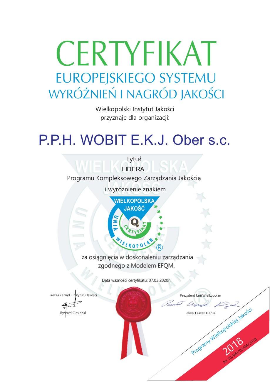 Certyfikat EFQM
