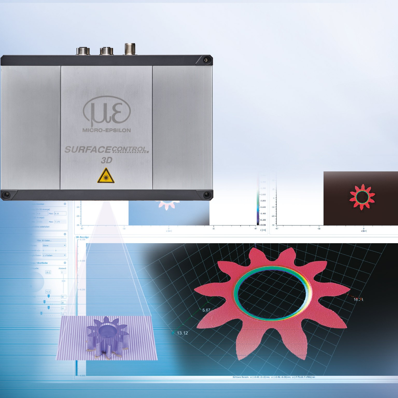 Innowacyjny czujnik 3D używający światła strukturalnego dopomiarów geometrii, kształtów ipowierzchni inline
