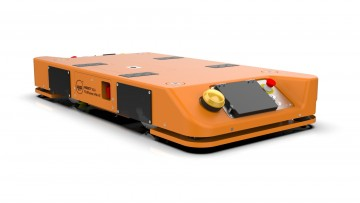 Efficient transport of heavy loads with the new mobile robot MOBOT® FlatRunner MW HT