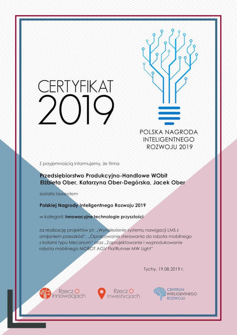 Polska Nagroda Inteligentnego Rozwoju 2019