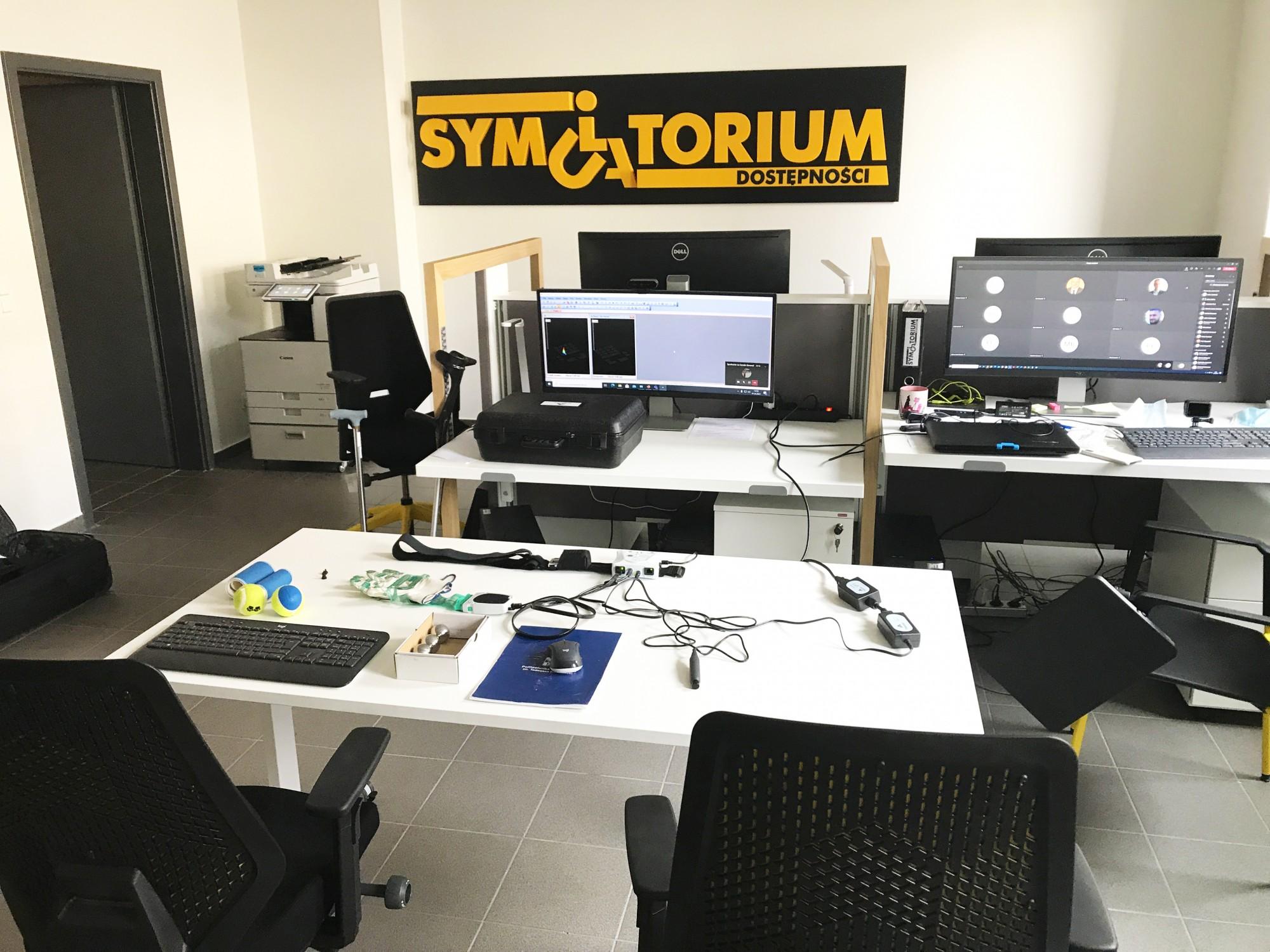 Systemy Tekscan wSymulatorium Dostępności Akademii Kształtowania Przestrzeni Dostępnej