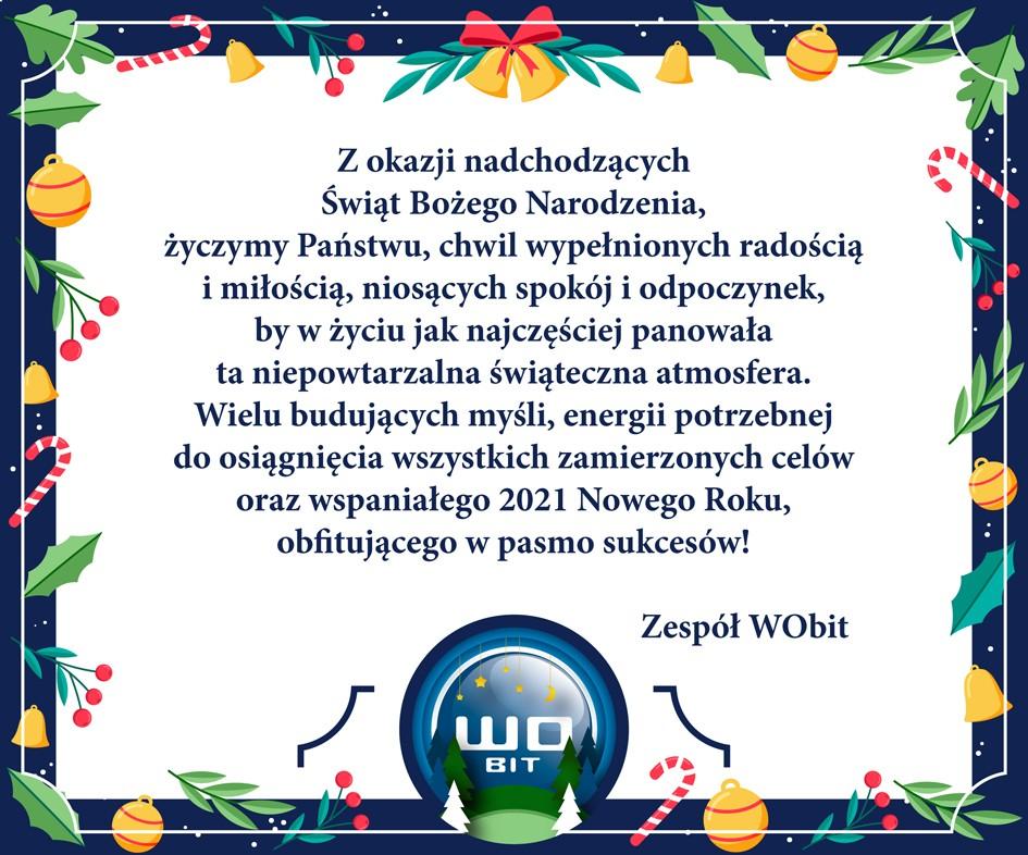 Wesołych Świąt iszczęśliwego Nowego Roku 2021