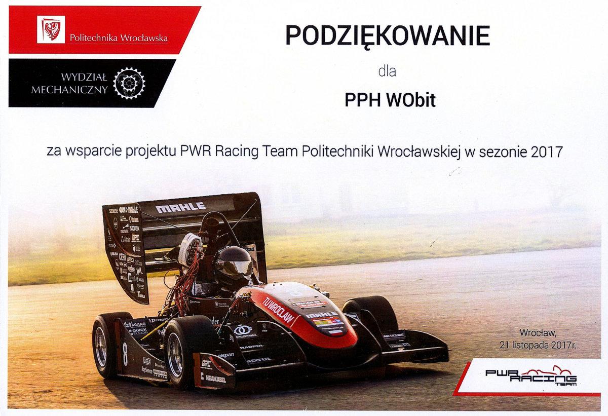 Podziękowanie od PWR 2017