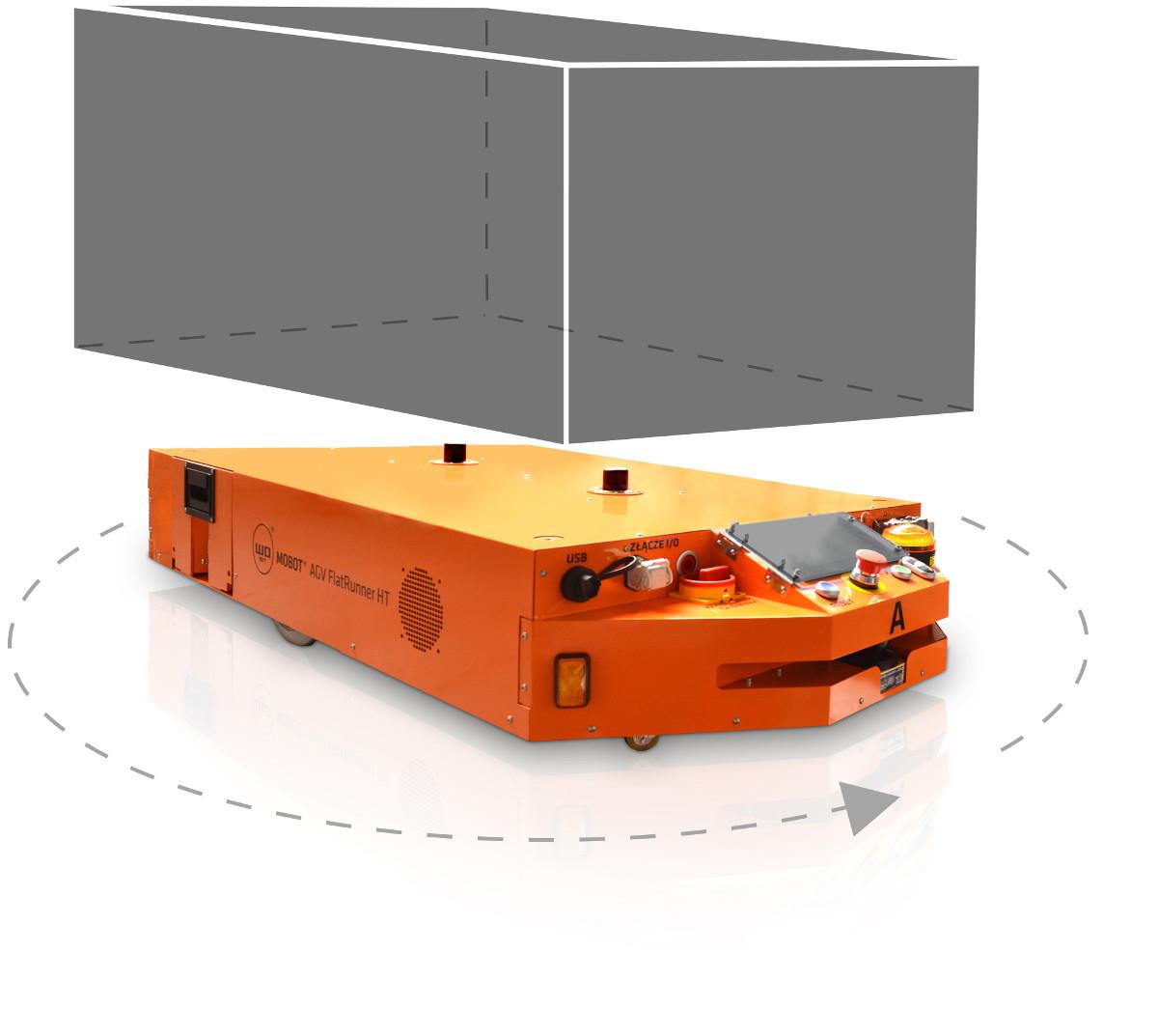 Industrial mobile robot MOBOT® AGV FlatRunner HT