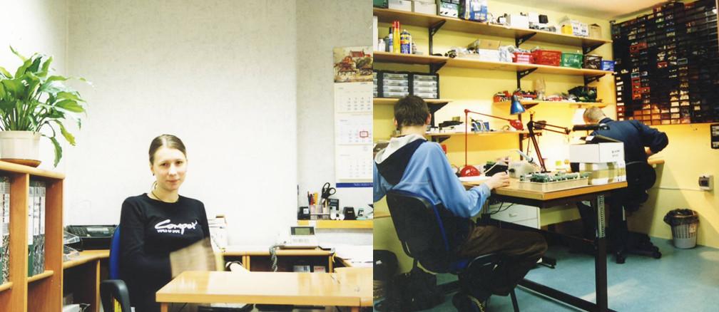 Zaczęła się tam wyłaniać pierwsza struktura organizacyjna przedsiębiorstwa. Pierwsze działy to sekretariat, produkcja, magazyn, a także obsługa klienta