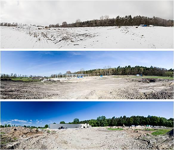 Początek budowy nowej siedziby w Dęborzycach