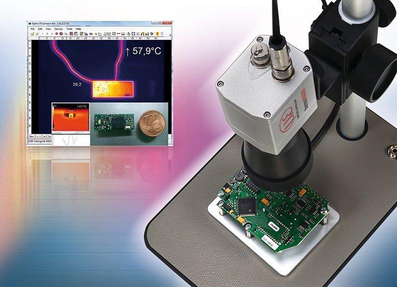 Kamera termowizyjna zobiektywem mikroskopowym thermoIMAGER Microscope Lens