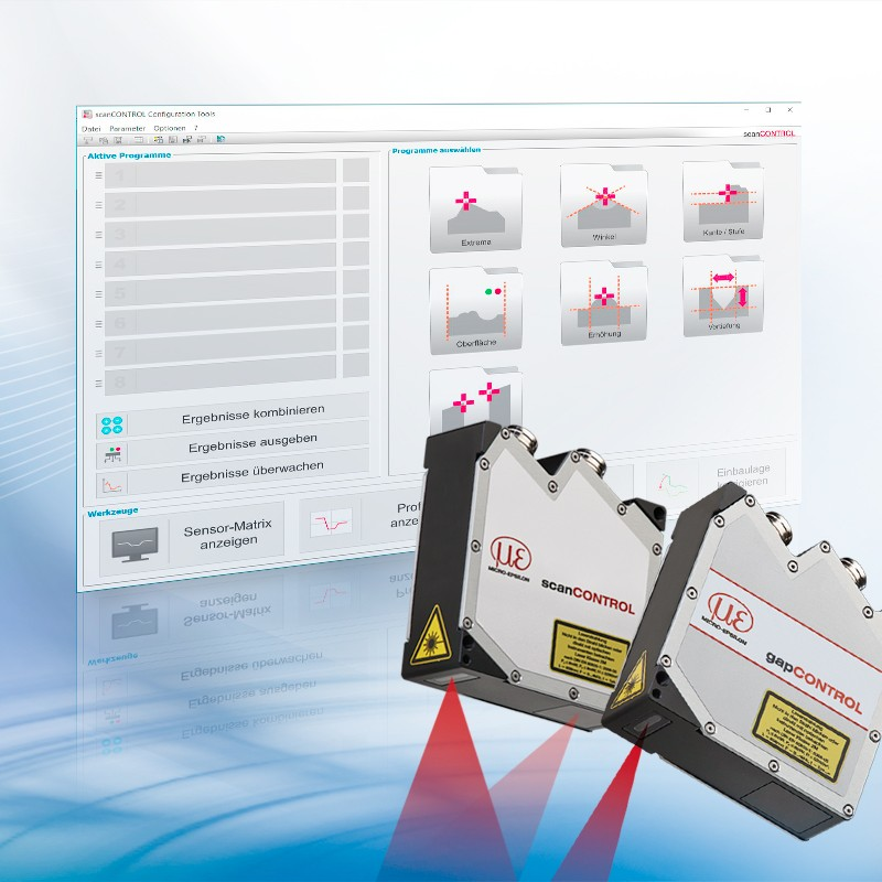 Z nowym oprogramowaniem Configuration Tools 6.1 doskanerów laserowych możliwy jest pomiar szczelin!